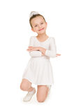 Little girl in white ball gown Royalty Free Stock Photos