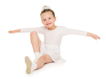 Little girl in white ball gown Stock Photography