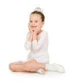 Little girl in white ball gown Royalty Free Stock Image