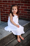 Little Girl in White Stock Images