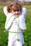 Little girl in white dress Royalty Free Stock Photo
