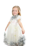 Little girl in a white dress Royalty Free Stock Photos