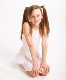 Little girl in white dress Royalty Free Stock Image