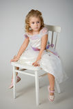 The little girl in white dress Royalty Free Stock Photos
