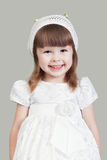 The little girl in a white dress Royalty Free Stock Photo