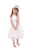 Little girl in white dress Royalty Free Stock Photos