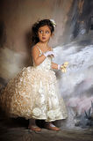 Little girl in a white princess dress Stock Photography