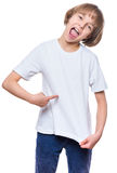 Little girl in white t-shirt Royalty Free Stock Image