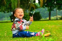 The little girl who was very happy.(Asia, China, Chinese) Royalty Free Stock Photo