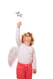 Little girl with wings Royalty Free Stock Photos