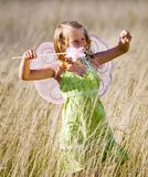 Little girl with wings royalty free stock image