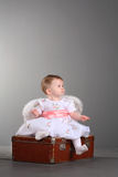 Little girl with wings of an angel Stock Image