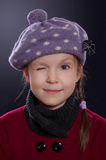 Little girl winking Royalty Free Stock Images