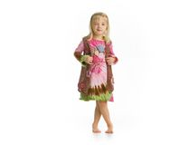 Little Girl Winking Stock Images