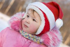 Little girl in the winter Royalty Free Stock Images