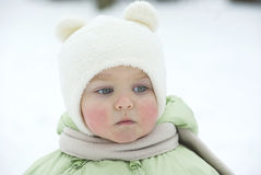 Little girl in the winter Royalty Free Stock Image