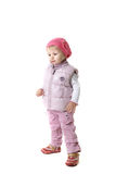 Little girl in winter clothes Royalty Free Stock Photos