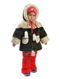 Little girl in winter clothes Stock Photography