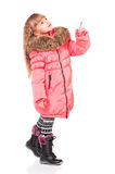 Little girl in winter clothing Royalty Free Stock Photography