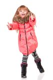 Little girl in winter clothing Royalty Free Stock Photos