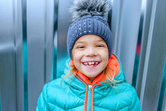 Little girl in winter coat Royalty Free Stock Photography