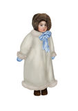 Little girl in a winter coat royalty free stock photography