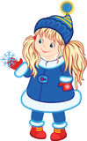 Little Girl With Winter Costume Royalty Free Stock Image