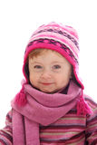 Little girl with winter hat Royalty Free Stock Image