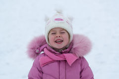 Little girl in the winter Royalty Free Stock Photos