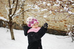 Little girl in winter Royalty Free Stock Photo