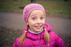 Little girl  in  winter park. Stock Photography