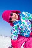 Little girl in winter Royalty Free Stock Images