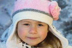 Little girl in winter royalty free stock image
