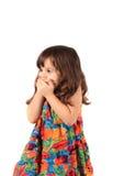 Little girl wishing Stock Photography