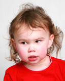 Little girl with wispy hair Royalty Free Stock Image
