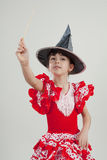 Little girl witch Stock Photos