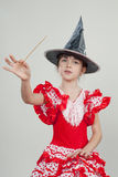 Little girl witch Stock Photography