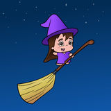 Little Girl Witch Royalty Free Stock Photos
