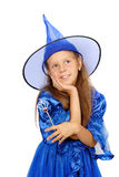 Little girl in witch costume Stock Photography