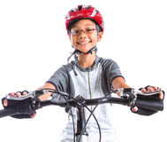 Free Little Girl With A Mountain Bike II Royalty Free Stock Photo - 35849425