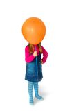 Little Girl With Balloon Instead Head Royalty Free Stock Image