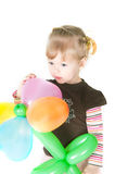Little Girl With Baloons Stock Photography