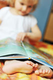 Little Girl With Book Royalty Free Stock Photos