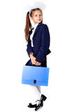 Little Girl With Briefcase Stock Photo