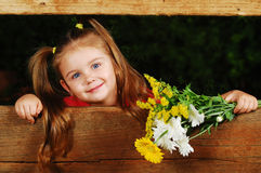 Free Little Girl With Flowers Stock Photo - 24833560