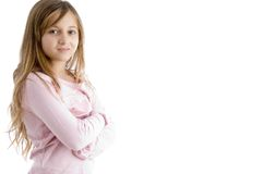 Little Girl With Folded Hands Stock Photography