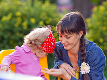 Free Little Girl With Mom Stock Images - 10640964
