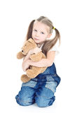 Little Girl With Ponytails Stock Image
