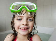 Little Girl With Swim Glasses Royalty Free Stock Photography