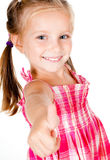Little Girl With Thumbs Royalty Free Stock Images